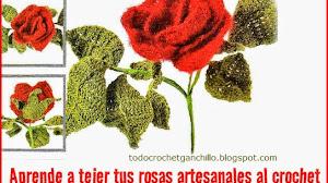 Aprende a tejer *Rosas Artesanales*