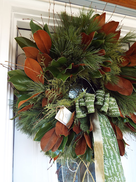 winter wreath at The Camellia