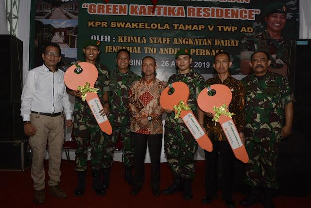 Sejahterakan Prajurit dan PNS, TNI AD Bangun 6.000 Rumah