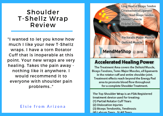 5671d491e3 I have a torn Rotator Cuff that is inoperable at this point. Your new wraps  are very healing. Takes the pain away - nothing like it anywhere.