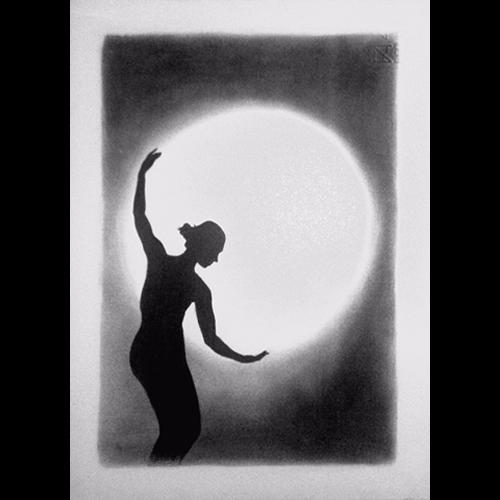 Da Foto A Ritratto Ballerina Con La Luna