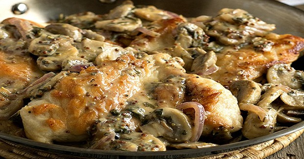 Chicken Breasts With Mushroom And Onion Dijon Sauce Recipe