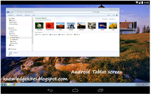Access remote desktop using mobile phone - android