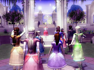 Web-Back-Then • Barbie in the 12 Dancing Princesses Game