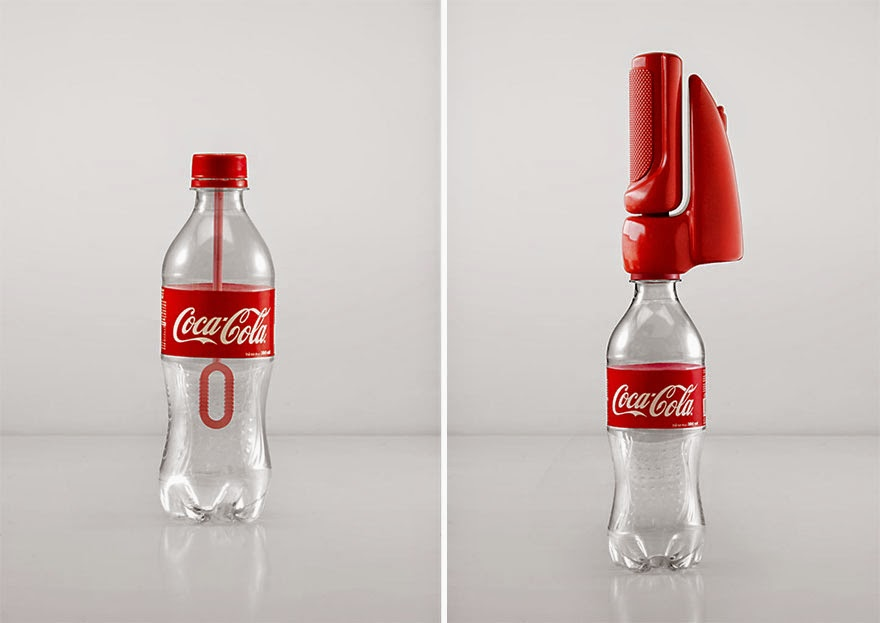 coca cola invents 16 crazy caps to turn empty bottles into useful objects modernistic design. Black Bedroom Furniture Sets. Home Design Ideas