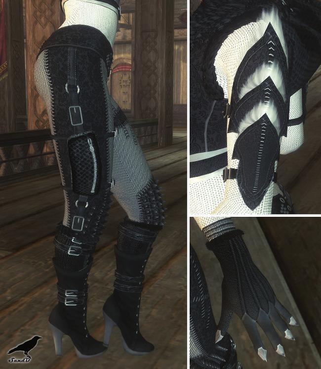 Sd Crow Outfit Cbbeunp Eskyrim