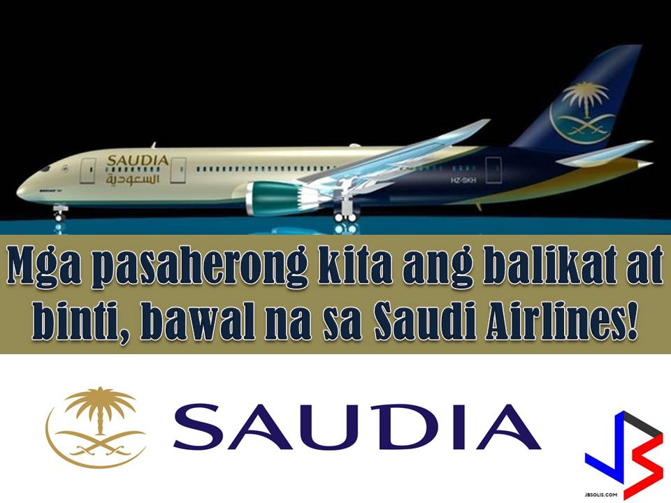 "The Kingdom of Saudi Arabia is known to have a super strict dress code in their country. But take note, the dress code is not only limited ""inside"" the Kingdom but as well as in their airlines, if it happens you are one of their passengers.  Saudi Arabian Airlines, also known as SAUDIA operates domestic and international flights to 120 destinations in the Middle East, Africa, Asia, Europe, and North America.  In their website, the Saudi National Carrier issued guidelines imposing a restriction on passengers clothes traveling on their flights."