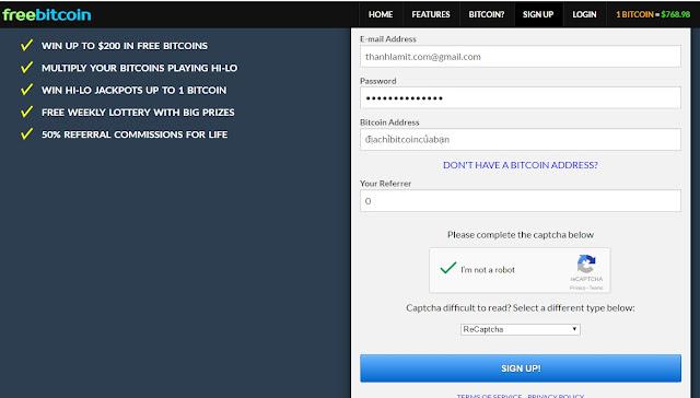 Nhận free bitcoin