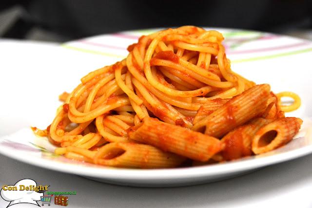 spaghetti with tomato sauce ספגטי ברוטב עגבניות