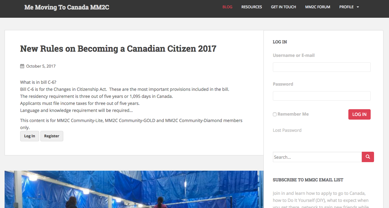 Ben alagnam moving to canada some of its posts are protected by a membership tier there are three tiers lite gold and diamond if readers want to access the site a membership is solutioingenieria Choice Image