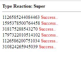 Script Bot Reaction Facebook