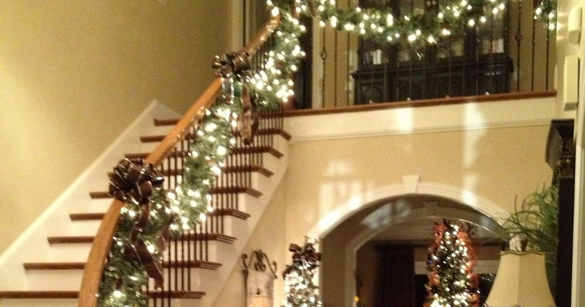 Southern N Sassy Christmas Garland On The Stairs