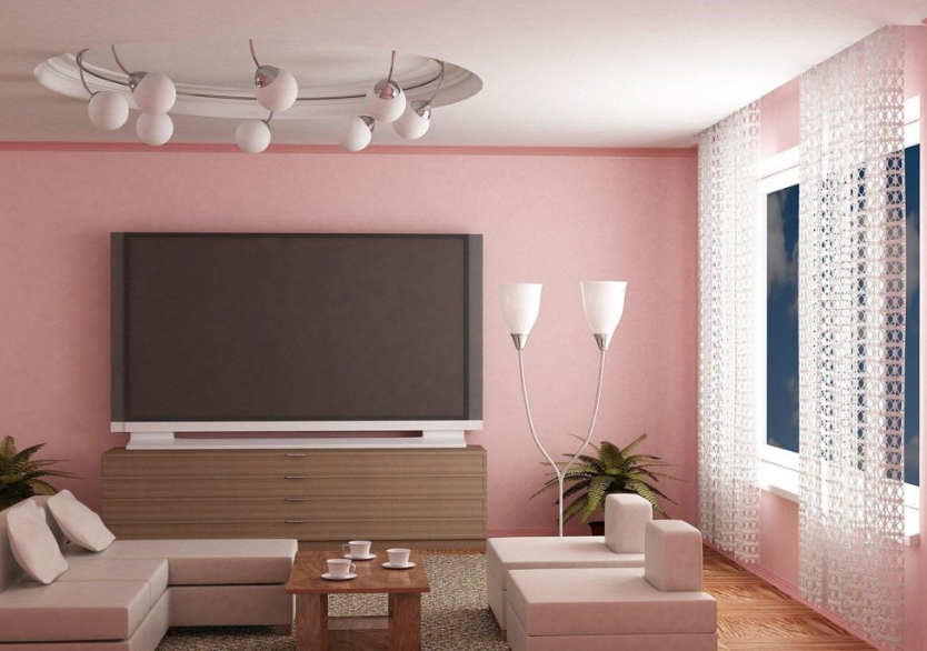 Aneka Contoh Kombinasi Warna Cat Ruang Tamu Dengan Plafon Yang Elegan