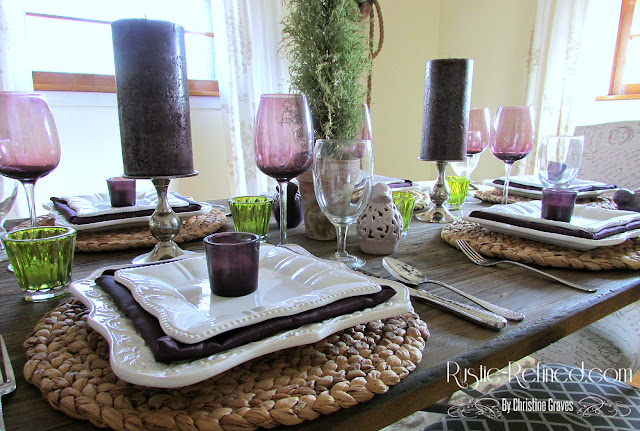 Rustic Tablescape suitable for any occasion you need that pop of color and romance on your table