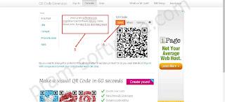 Memasukan Kata di QR Code