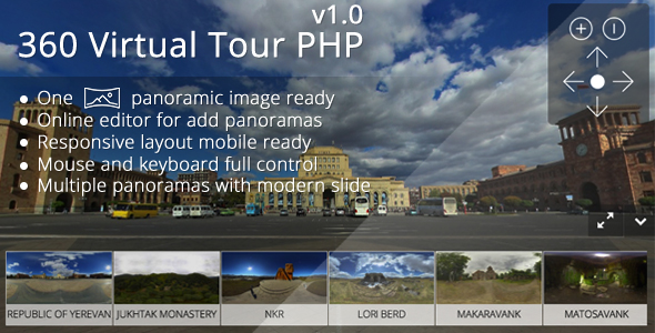 CodeCanyon - 360 Virtual Tour PHP v1.1