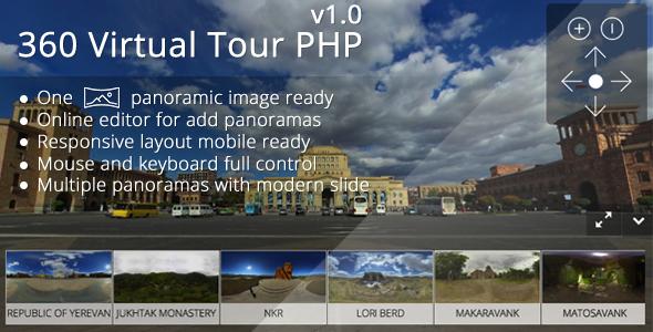 CodeCanyon - 360 Virtual Tour PHP v1.1