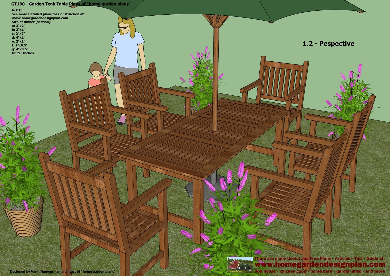 home garden plans: GT100 - Garden Teak Tables ...