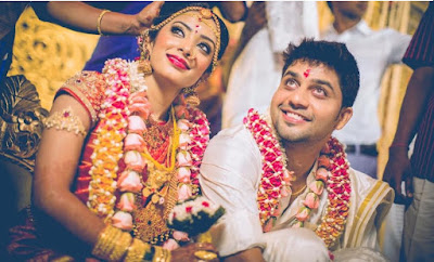 Sun Music VJ Diya and Karthik wedding photo 2
