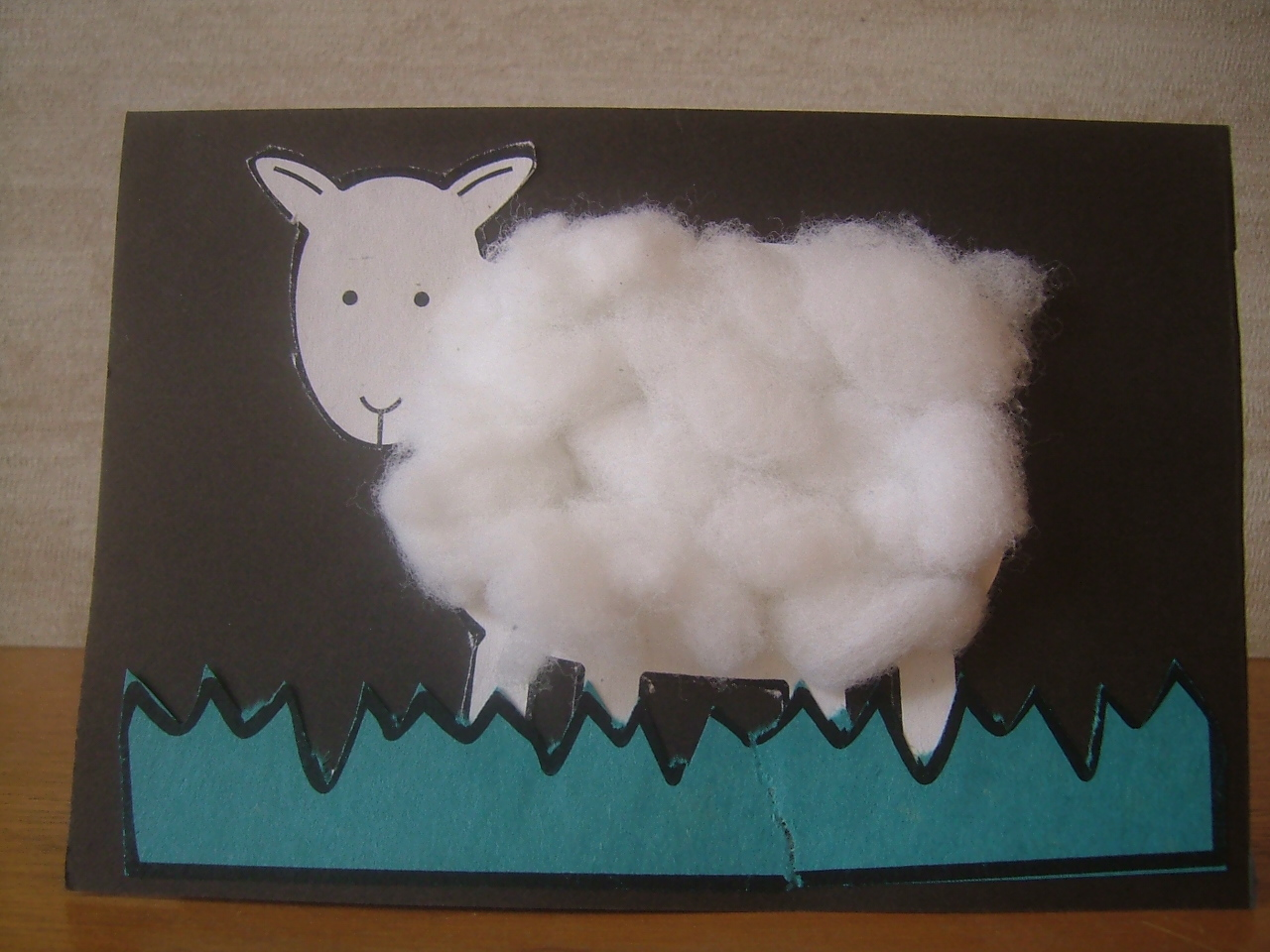 Easy Spring Lamb Sheep Card Craft For Kids