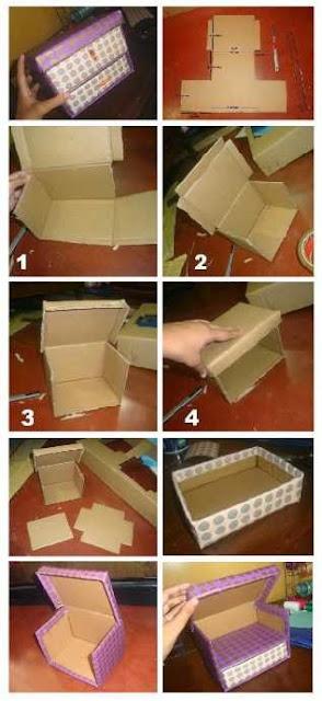 Kreasi Membuat Kotak Accessories Dari Kardus