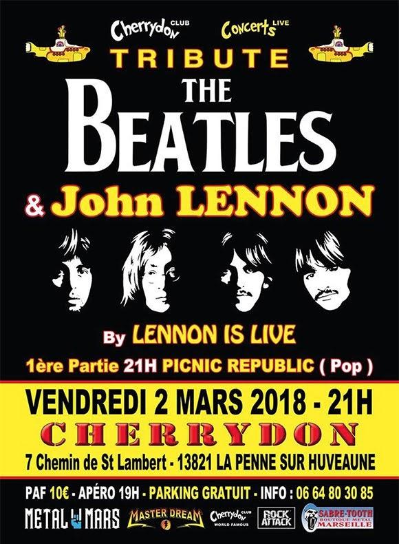 Hommage aux Beatles et à John Lennon à La Penne-sur-Huveaune