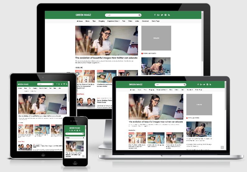 Green Magz New SEO Blogger Template