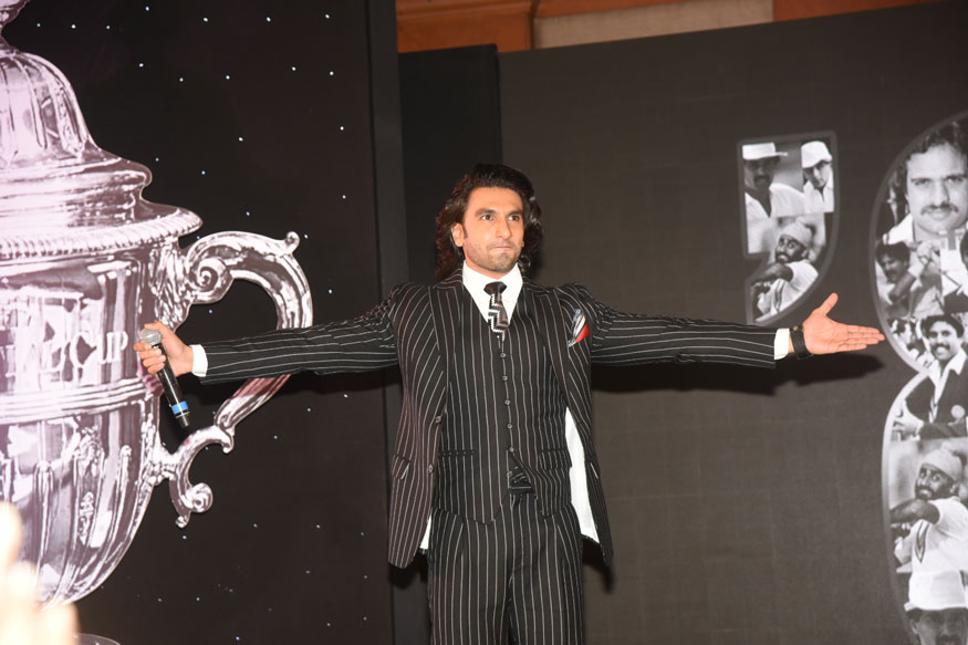 Ranveer Singh at The Launch of Movie 83