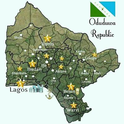 Yorubas' Unveil 'Oduduwa Republic' (See Map & States)