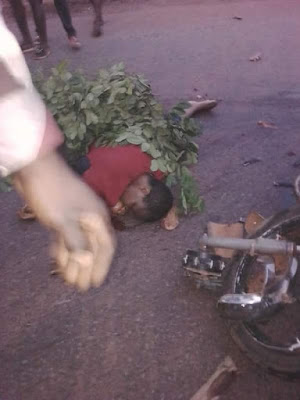 Photos: Dangote Trailer Crushes Lady Dead On Enugu-Port Harcourt Expressway