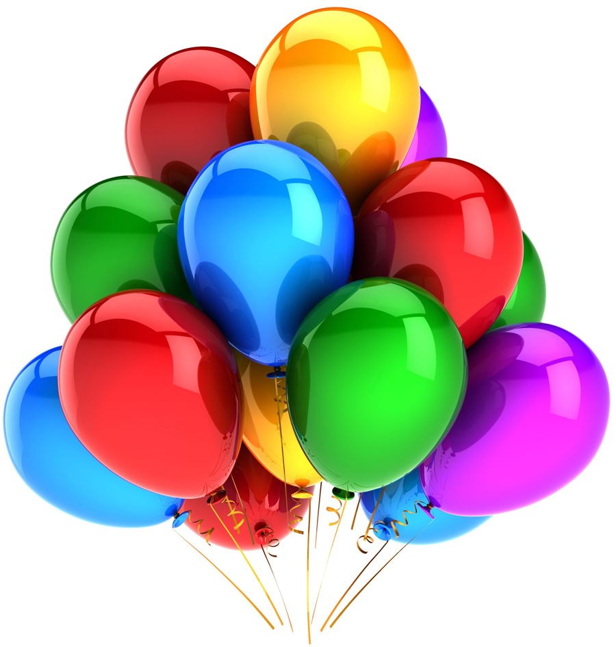 imgenes de cumpleaos con globos de colores pasteles y regalos para con tus propios mensajes happy birthday messages