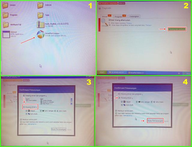 Pengaturan / setting pengguna pada DriverPackSolution