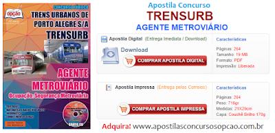 Apostila para Concurso Trensurb de Porto Alegre 2017