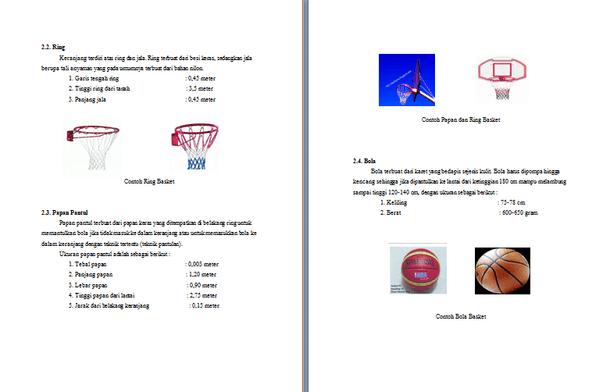 Contoh Makalah Bola Basket Lengkap Format Docx Microsoft Word Contoh Docs