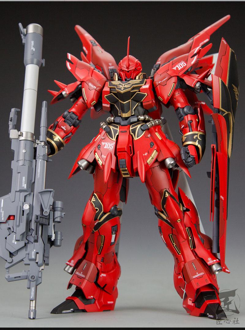 Custom Build: MG 1/100 MSN-06S Sinanju [Detailed] - Gundam ...