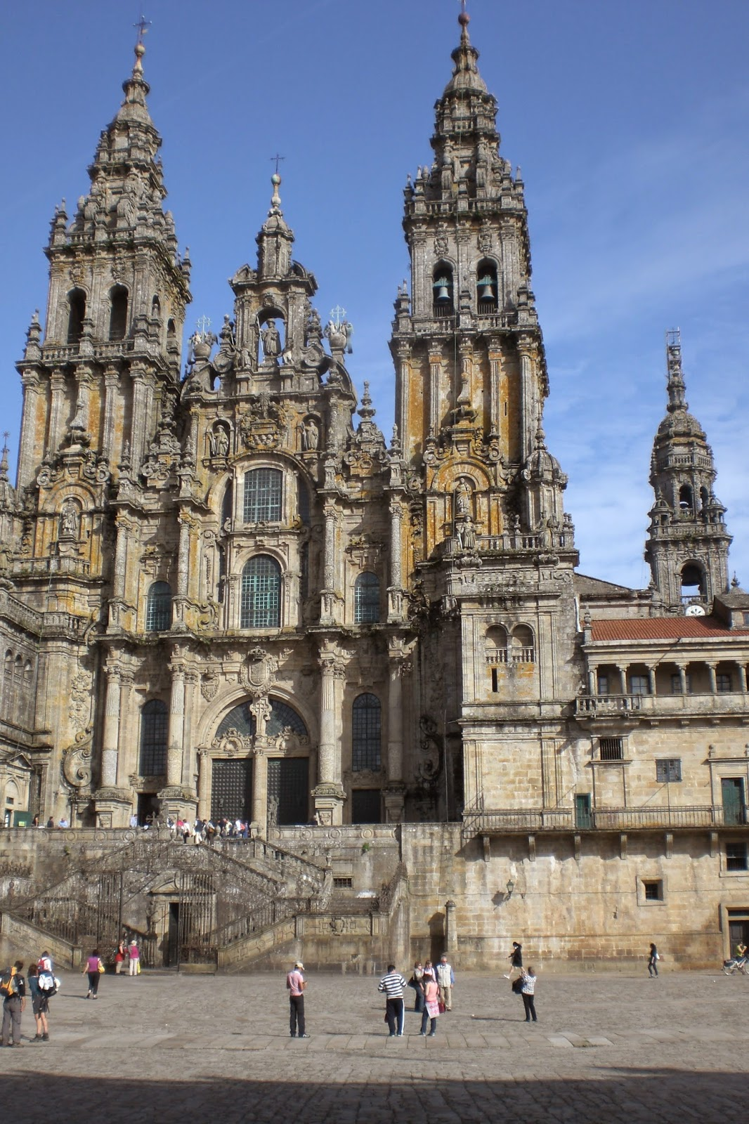 Santiago de Compostela cathedral is said to be the final resting place of the apostle James