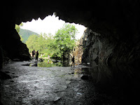 From inside out of Rydal cave - by: © Paul c Walton