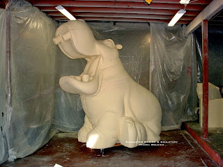 "pierre rouzier_""hippo"" sculpture"