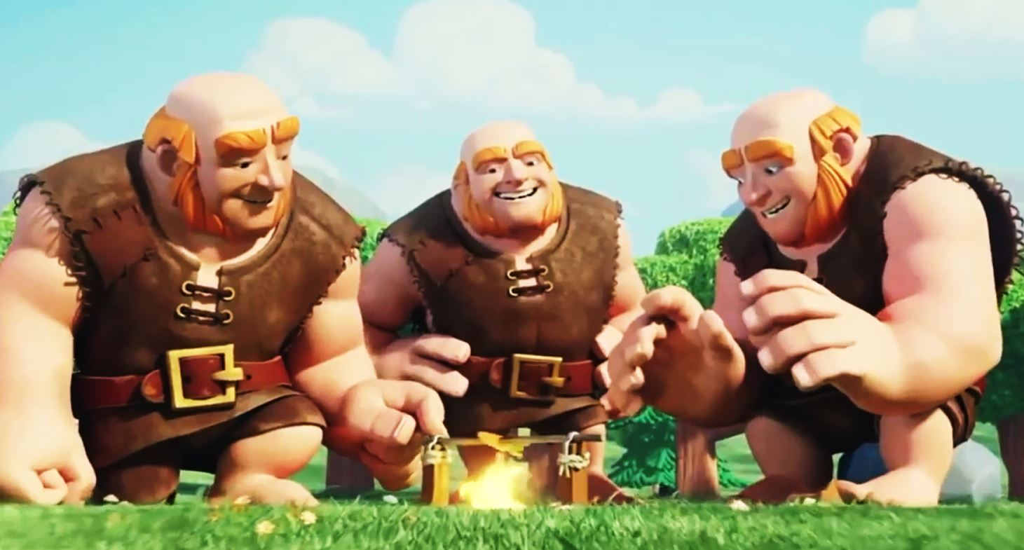 clash of clans having fun, giants