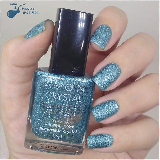 Esmeralda Crystal Avon Brasil Liquid Sand Texturizado Esmalte Verde