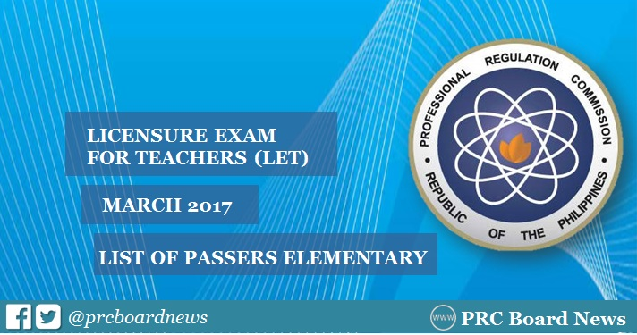 March 2017 LET Results out elementary level