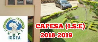 CAPESA (I.S.E) 2018-2019 ISSEA Yaounde