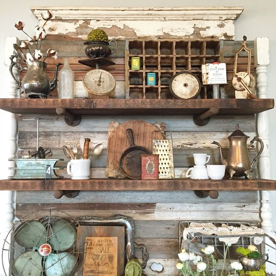 Booth Crush Antique Booth Shelving