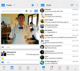 BBM Mod Iphone Style IOS Versi APK+DATA v3.3.0.16