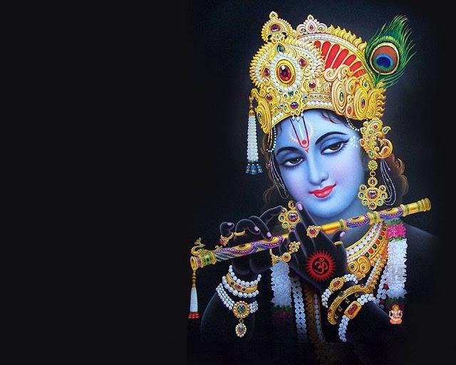 Best Lord Krishna  Wallpaper In Black Background