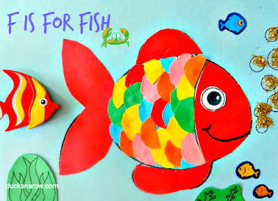 fish, preschool crafts, kids