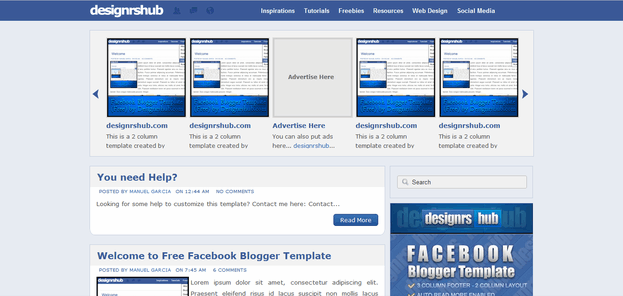 Facebook Style Blogger Template Adds The Social Interactivity Into Your Blogging Experience Well This New By Designrshub Brings Color