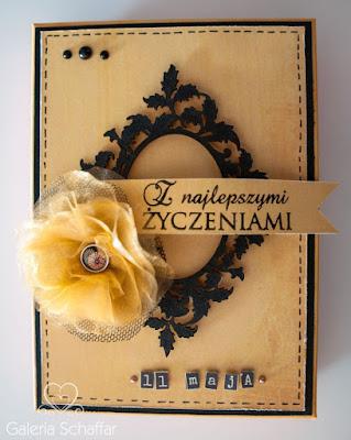 pudelko z kwiatem handmade wycinanki scrap.com.pl. ramka
