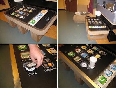 diseño creativo de mesa de centro smart phone