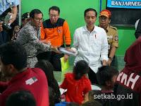 Selain Santunan, Presiden Jokowi Berikan Motivasi Korban Gempa Bumi Banjarnegara